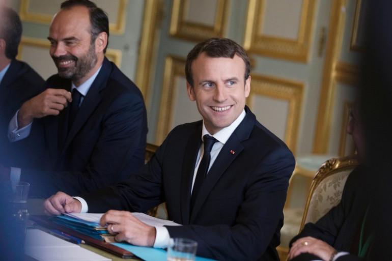 Édouard Philippe et Emmanuel Macron, le 13 juillet 2017 à l'Élysée