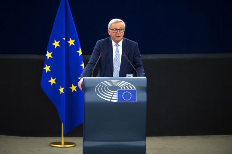 Le président de la commission européenne, Jean-Claude Juncker à Strasbourg le 13 septembre.