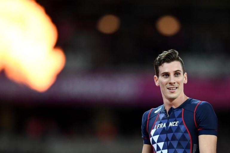 Pierre-Ambroise Bosse, sacré champion du monde du 800m, lors des Mondiaux 2017