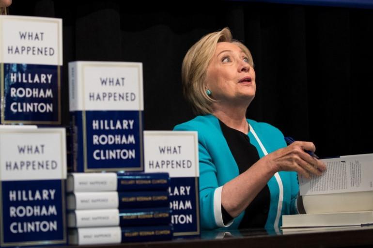 """Hillary Clinton en séance de promotion de son livre """"What happened"""""""