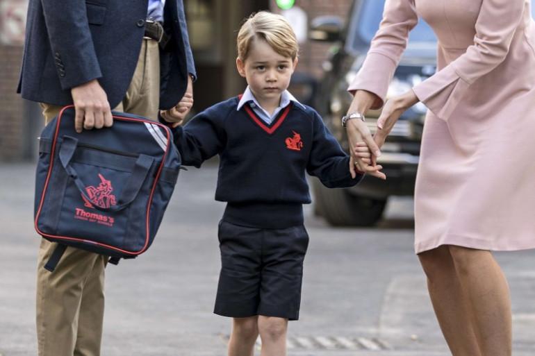 Le prince George lors de sa rentrée scolaire