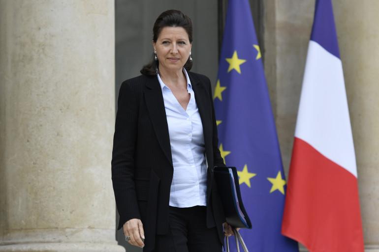 Agnès Buzyn sur le parvis de l'Élysée, le 28 juillet 2017
