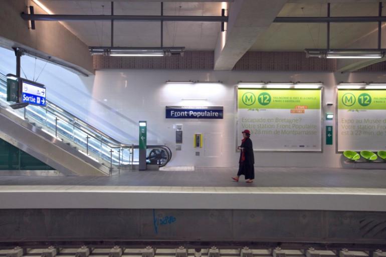 """La station de métro """"Front populaire"""" (image d'illustration)"""