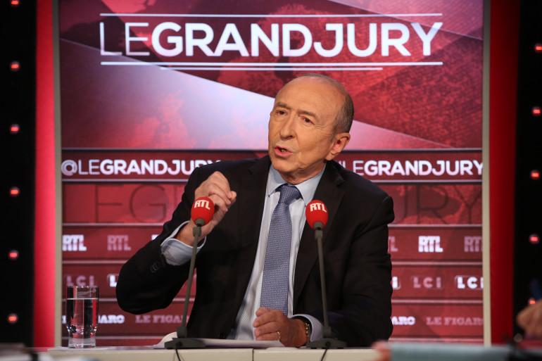 """Gérard Collomb était l'invité du """"Grand Jury"""", le 17 septembre 2017"""