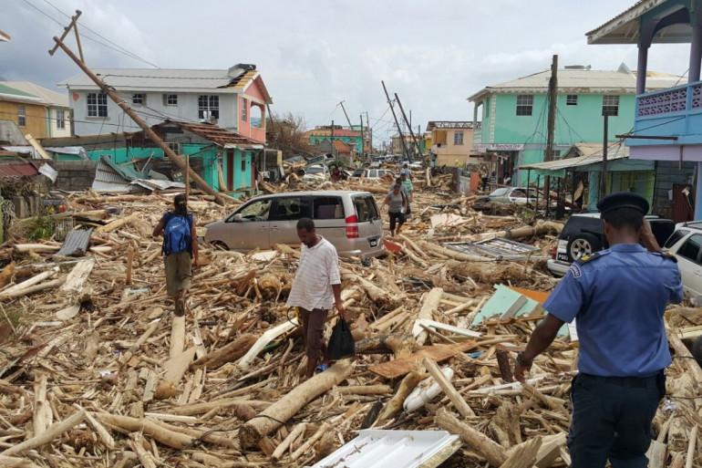 Les dégâts causés par l'ouragan Maria en Dominique, le 20 septembre 2017.