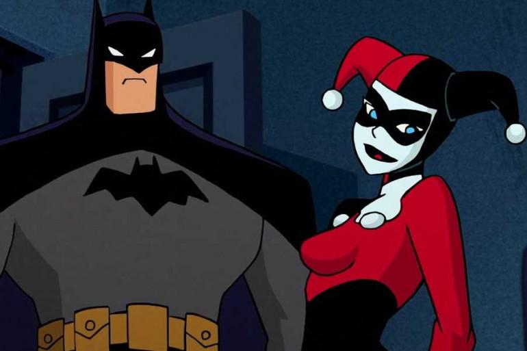 """Batman et Harley Quinn dans le dessin animé """"Batman"""""""