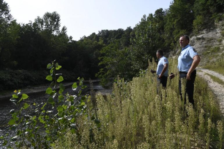 La riviers Le Guiers a été sondée dans le cadre des recherches pour retrouver la petite Maëlys.