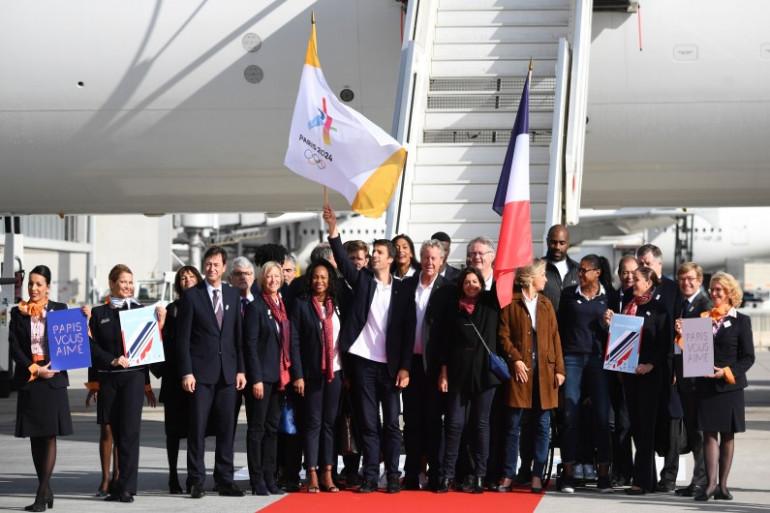 La délégation française pour Paris 2024 le 15 septembre 2017.