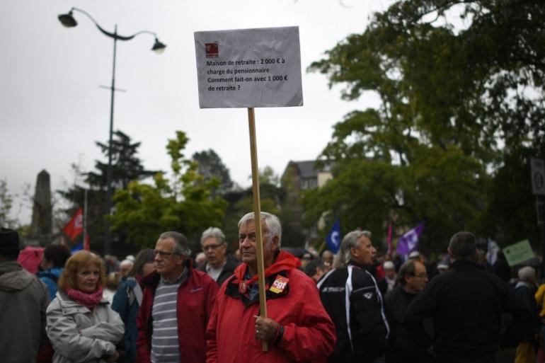 Manifestation des retraités à Rennes, le 28 septembre 2017.