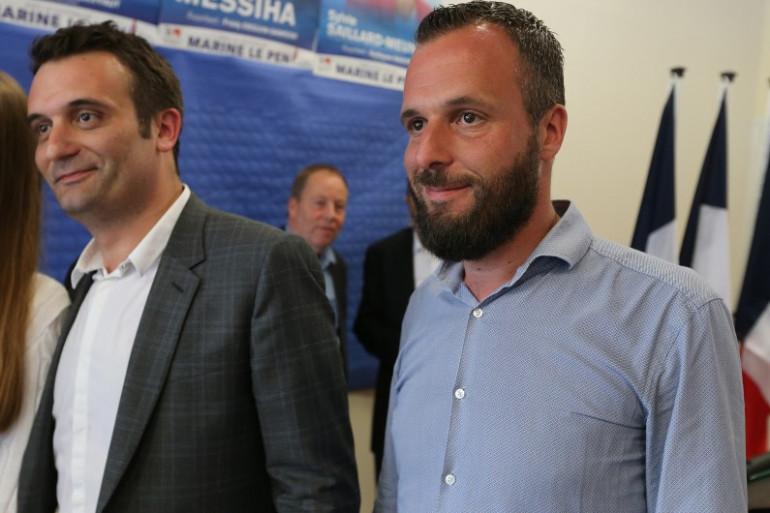 L'ancien vice-président du Front National Florian Philippot et son frère Damien.
