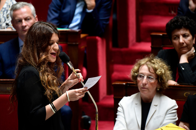 Marlène Schiappa, secrétaire d'État à l'égalité femmes-hommes, à l'Assemblée nationale.