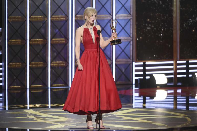 Nicole Kidman sur la scène des Emmy Awards, le 17 septembre 2017