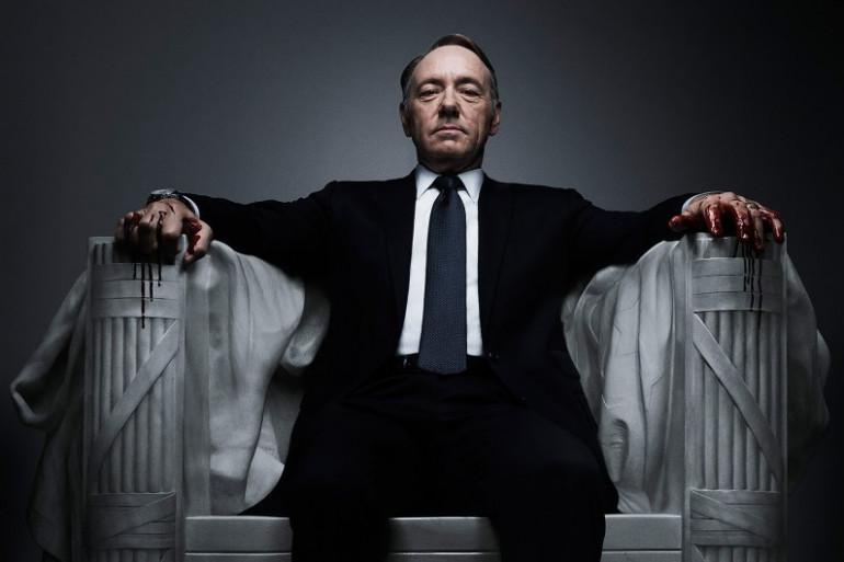 """8. Kevin Spacey (Franck Underwood dans """"House of Cards"""") est le huitième acteur de série télé le mieux payé au monde avec 12 millions de dollars de revenus en 2017."""