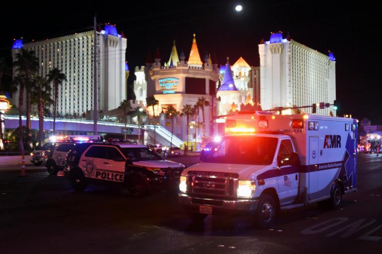 La police sur les lieux de la fusillade à Las Vegas, le 1er octobre