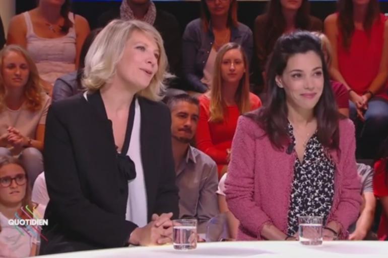 """Aude Rossigneux, rédactrice en chef de """"Le Média"""" et Sophia Chikirou, directrice de la communication de Jean-Luc Mélenchon"""
