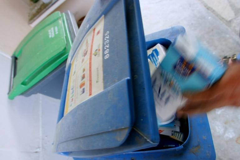 Des poubelles de tri sélectif (Illustration)