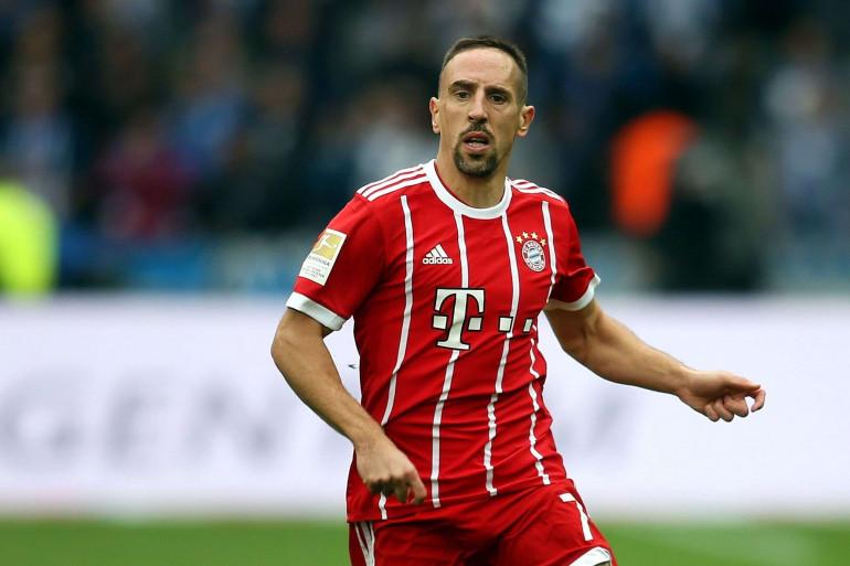 Franck Ribéry sous les couleurs du Bayern Munich le 1er octobre 2017