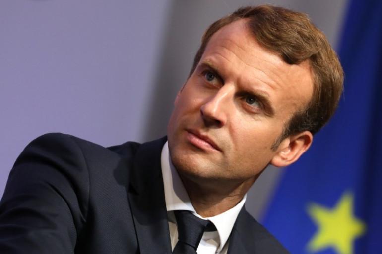 Emmanuel Macron le 4 octobre 2017 à Égletons, en Corrèze