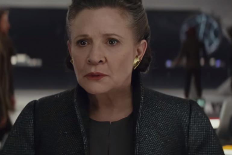 """Carrie Fisher dans le rôle de Leia Organa dans """"Star Wars 8"""""""