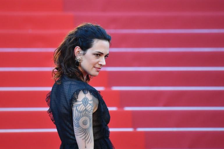 """L'actrice italienne Asia Argento au Festival de Cannes le 17 mai 2017 pour la projection du film """"Les fantômes d'Ismaël"""""""