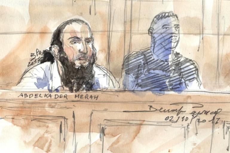 Abdelkader Merah dans le box des accusés à la cour d'assises de Paris