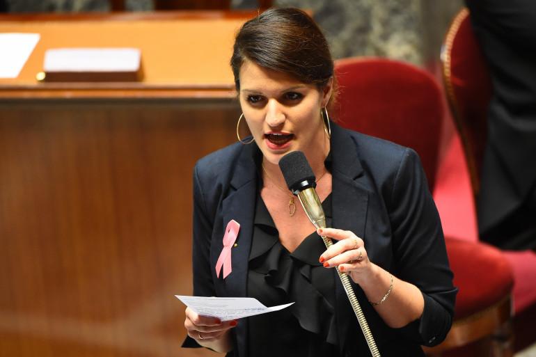 Marlène Schiappa à l'Assemblée nationale, le 10 octobre 2017