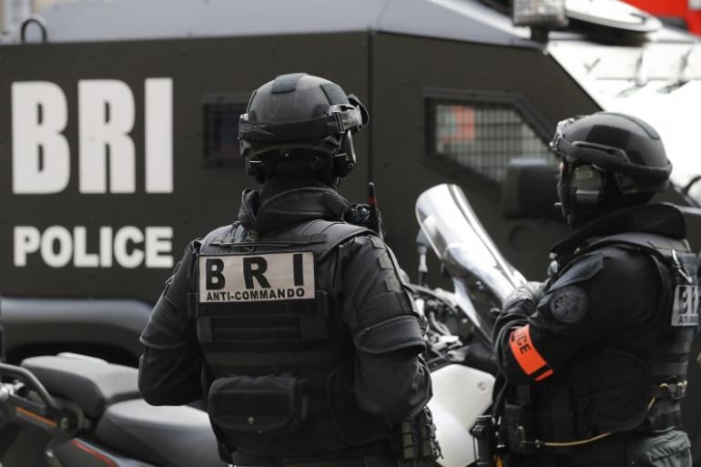 Des membres de la Brigade de recherche et d'intervention le 1er septembre à Paris pour la visite du ministre de l'Intérieur.