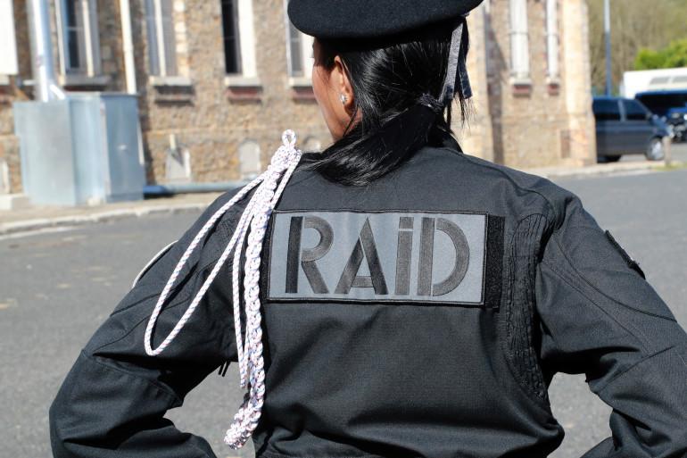 Un officier du Raid, à Bièvres le 21 septembre 2017