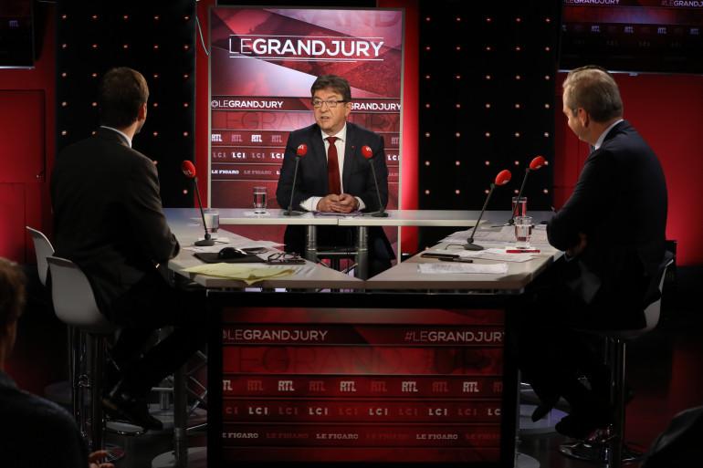 """Jean-Luc Mélenchon dans """"Le Grand Jury"""", le 15 octobre 2017"""