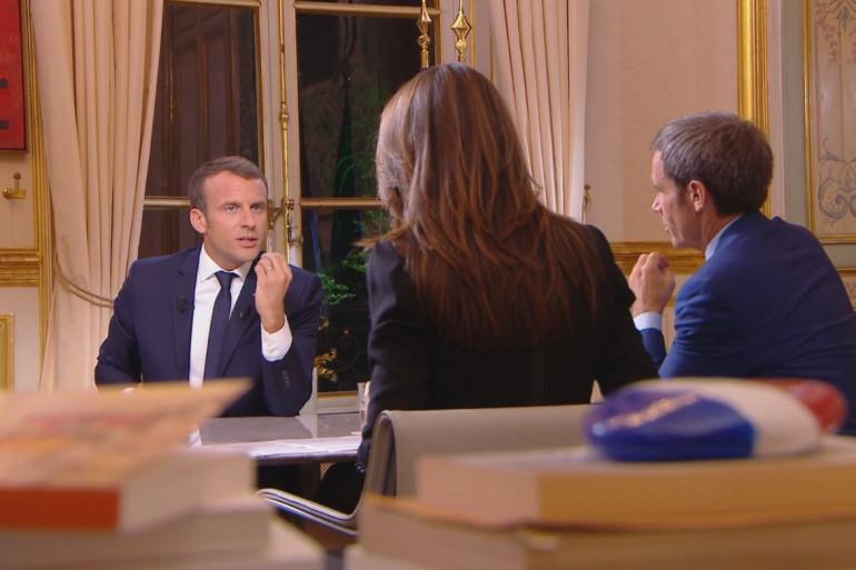 Emmanuel Macron sur TF1, dimanche 14 octobre