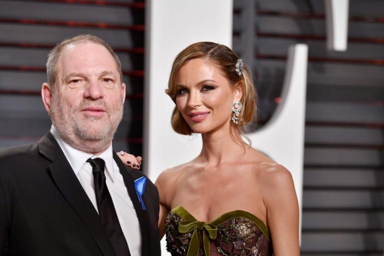 Harvey Weinstein et la fashion designer Georgina Chapman à la Vanity Fair Oscar Party le 25 février 2017.