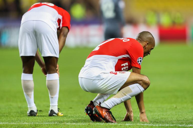 Le milieu de terrain de Monaco, Fabinho, en Ligue des champions