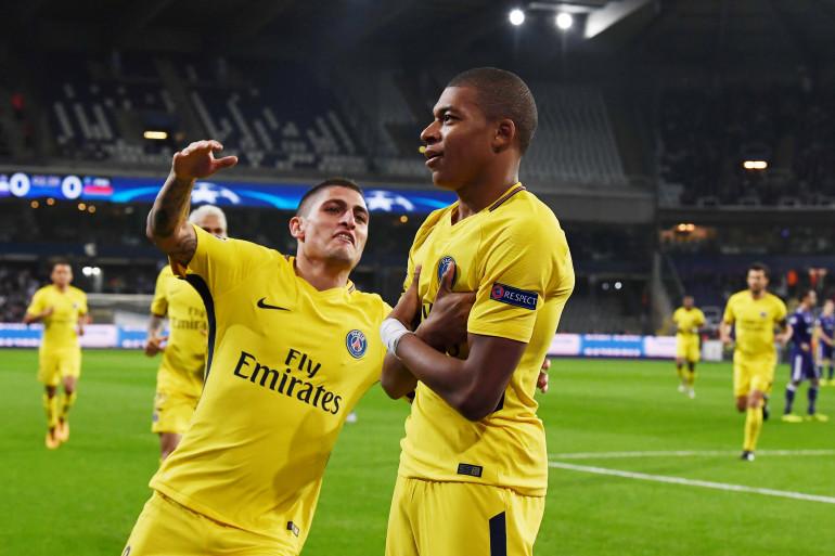 Anderlecht-Paris Saint-Germain : le but de Mbappé