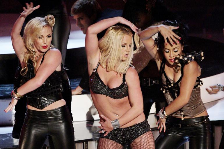 Britney Spears lors de son retour sur scène aux MTV Video Music Awards le 9 septembre 2007 à Las Vegas
