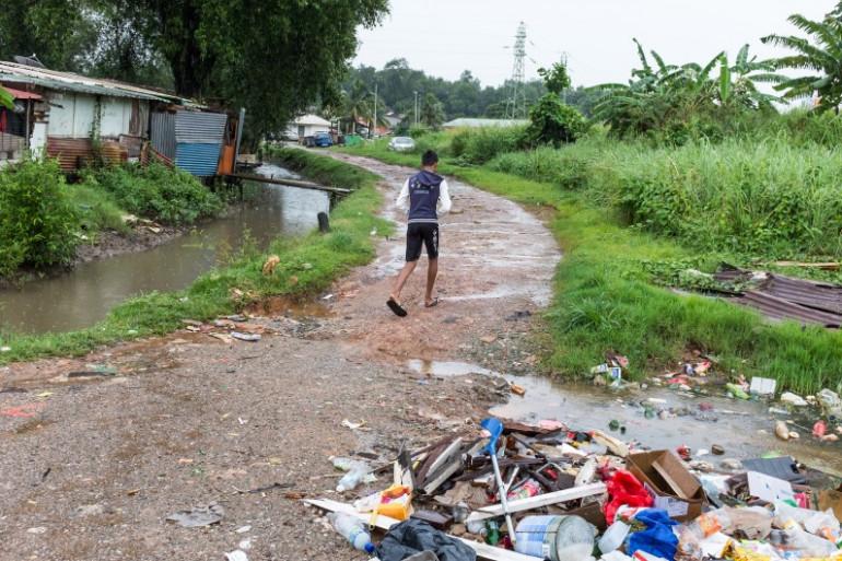Dans le quartier Matine-Leblond à Cayenne, en Guyane