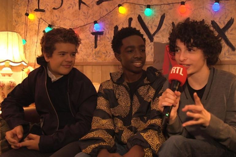 """Mike, Dustin et Lucas de """"Stranger Things"""" au micro de RTL Super"""