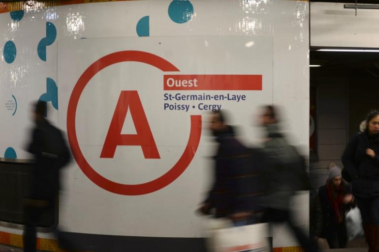 Dans les couloirs du RER A, le 29 janvier 2015 (image d'illustration)
