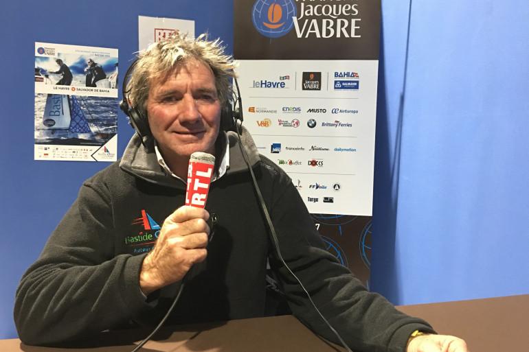 Le navigateur français Kito de Pavant, participant à la Transat Jacques Vabre 2017