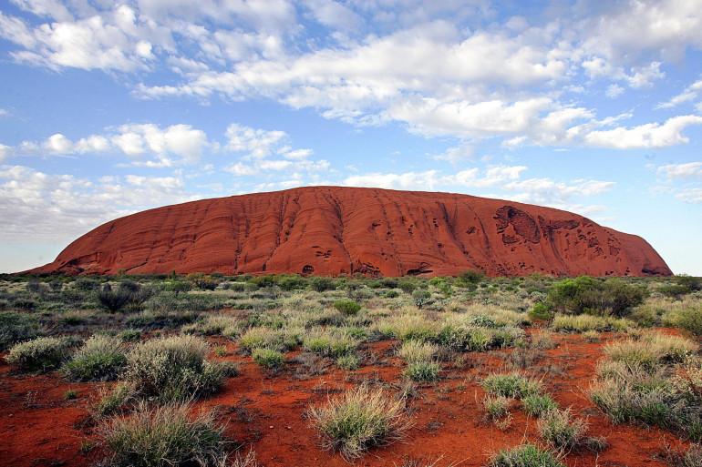 Le fameux mont Uluru, l'Ayers Rock.