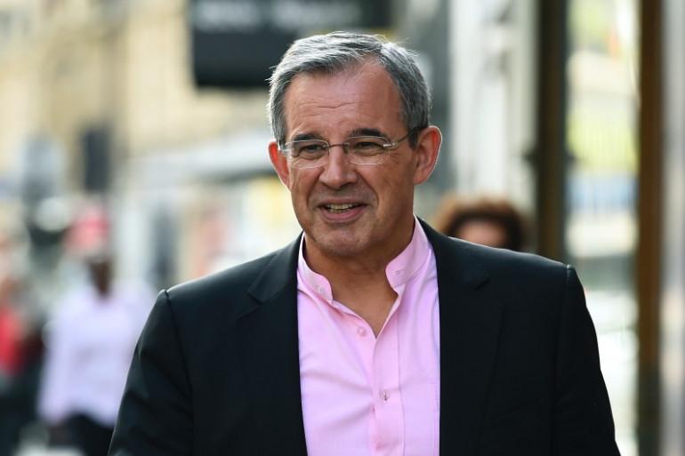 Thierry Mariani, membre du parti de droite Les Républicains (LR), arrive à une réunion du comité exécutif de LR le 11 juillet 2017.