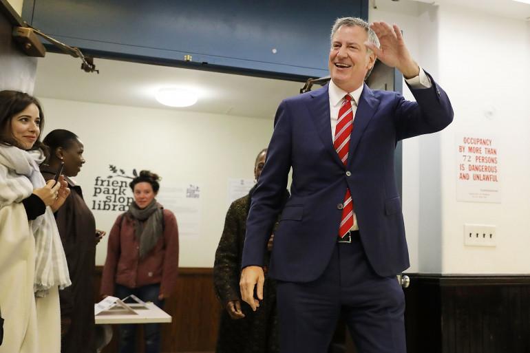 Le maire de New York Bill de Blasio le 7 novembre 2017 à Brooklyn