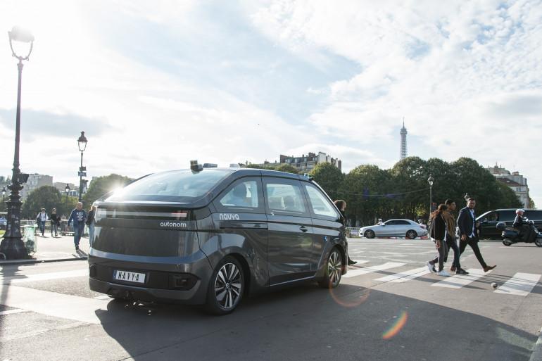 Navya espère expérimenter son taxi autonome électrique à Paris au printemps 2018