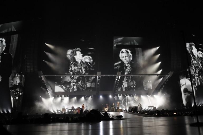 Les Rolling Stones en concert à la U Arena de Nanterre, en octobre 2017