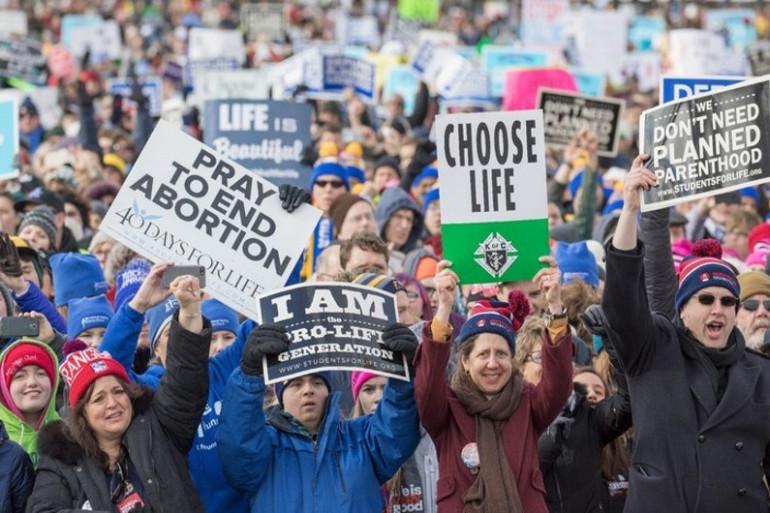 Des militants anti-avortement manifestent à Washington, le 27 janvier 2017