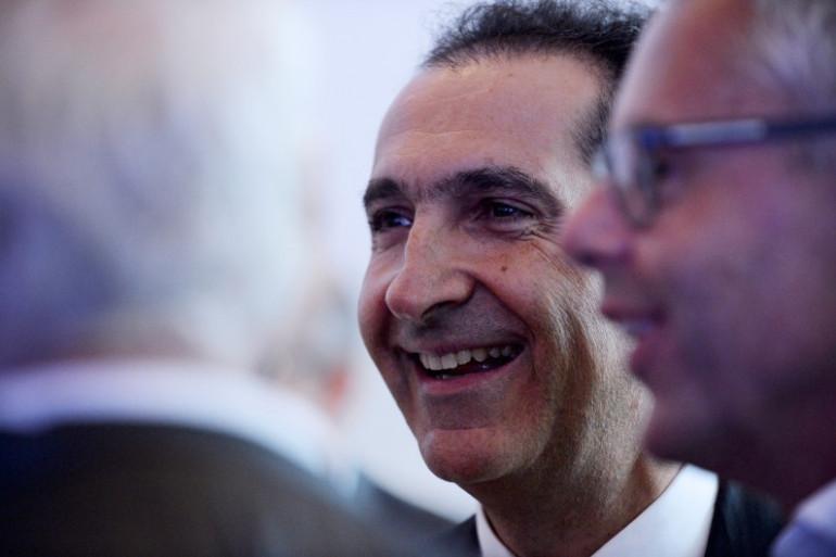 Patrick Drahi (à gauche) et Michel Combes, le 6 septembre 2016