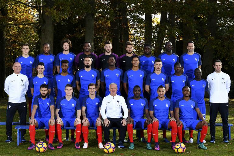L'équipe de France réunie à Clairefontaine le 8 novembre 2016