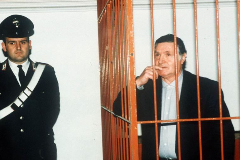 Le chef suprême de la Mafia italienne Toto Riina,