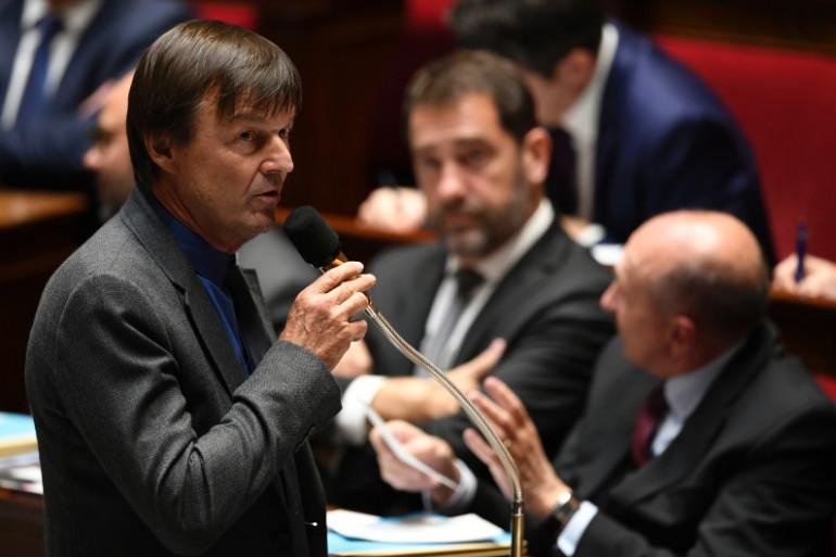 Le ministre de la Transition écologique Nicolas Hulot à l'Assemblée nationale le 31 octobre 2017.