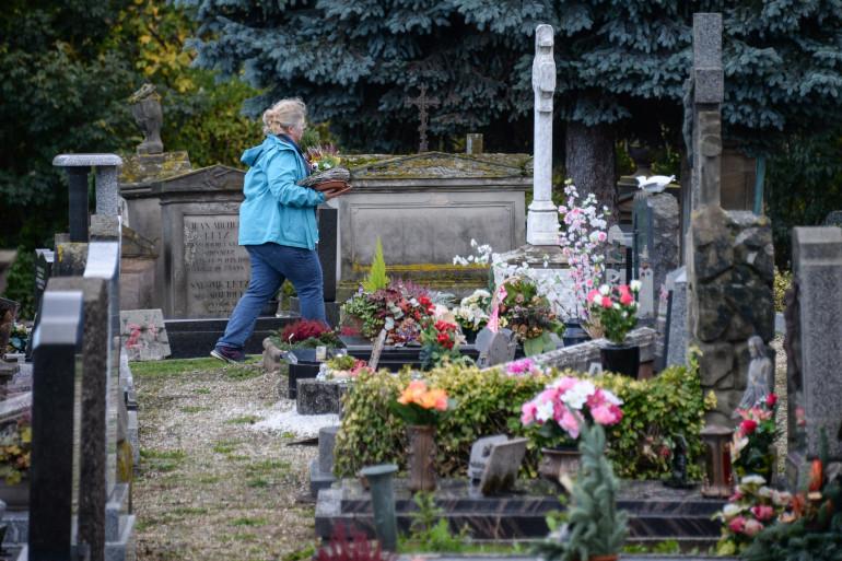 Un cimetière à Strasbourg, en novembre 2017 (illustration)