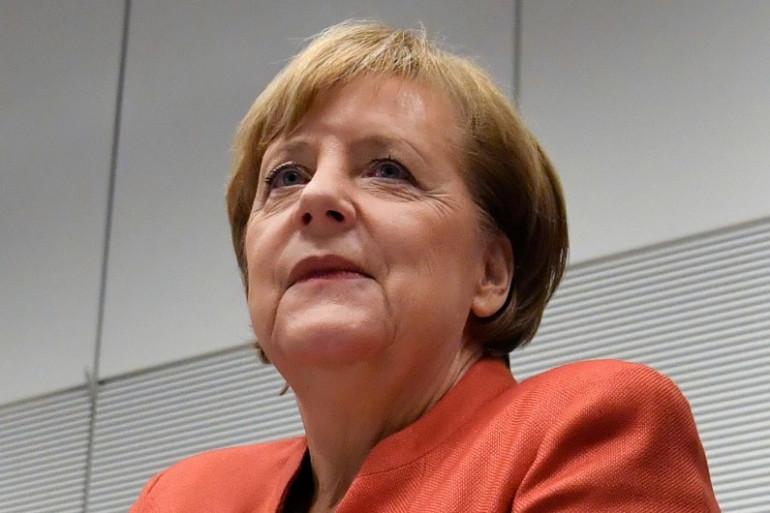 La chancelière allemande Angela Merkel, le 19 novembre 2017